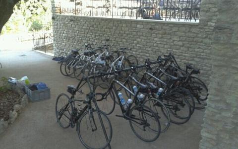 Gordes à vélo